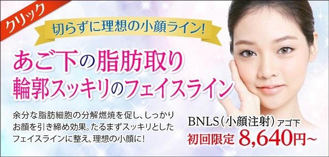 小顔注射BNLS 美容外科ピュアメディカルクリニック奈良西大寺橿原王寺院
